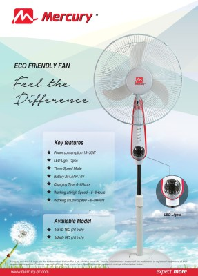 Mercury-MS40-18C-Rechargeable-Pedestal-Fan-(18-Inches)