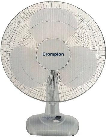 Crompton Greaves Hi Flo Eva 3 Blade Table Fan(White) 400mm