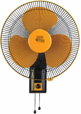 V-Guard Wilma STD 400mm 3 Blade Wall Fan(Black, Yellow)