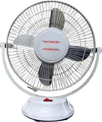 Black Cat BC-55 4 Blade Table Fan(White) 300mm