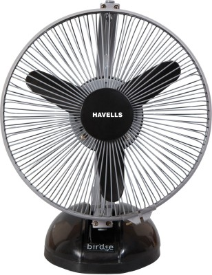 Havells Birdie 3 Blade Table Fan(Black & Grey) 230mm