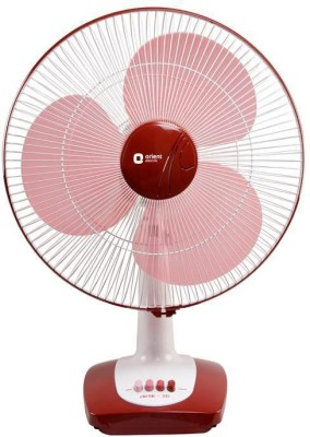 Orient Desk 26 400mm 3 Blade Table Fan(red)