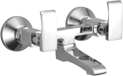 APREE Silver Brass Wall Mixer Non Telephonic : Series- Zing Faucet