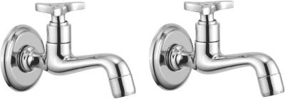 APREE Silver Brass Long Body : Series- Art (Pack of 2) Faucet