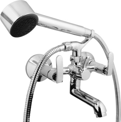 Kamal Wall Mixer (With Crutch & Hand Shower) - Irene (IRN-5041) Faucet(Wall Mount Installation Type)