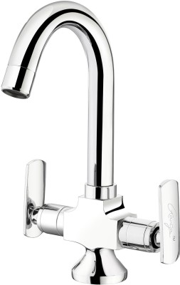 Ganga 309 Liva Central Hole Basin Mixer With Regular Spout With 450 mm Braided Hoses Faucet