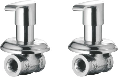 APREE Silver Brass Concealed Stop Cock 15mm : Series- Austin (Pack of 2) Faucet