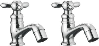 APREE Silver Brass Pillar Cock : Series- Tristar (Pack of 2) Faucet