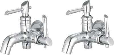 APREE Silver Brass Bib Cock 2 in 1 : Series- Joy (Pack of 2) Faucet