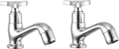 APREE Silver Brass Pillar Cock : Series- Star (Pack of 2) Faucet