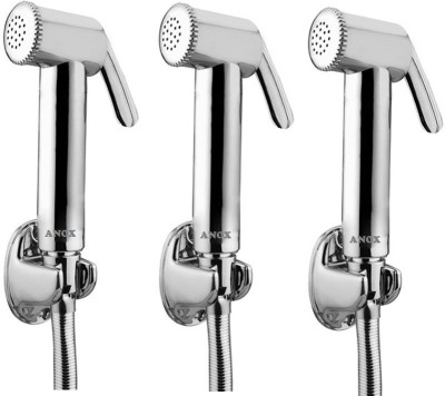 Anox PACK OF 3 -JET SPRAY WITH 1 METER SS SHOWER TUBE & STAND ECO Faucet(Wall Mount Installation Type)