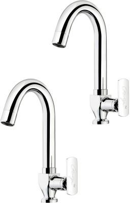 Ganga 308 Liva Sink Cock With Regular Swinging Spout (Set of 2 Pcs) Faucet