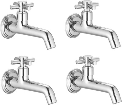 APREE Silver Brass Long Body : Series- Axis (Pack of 4) Faucet