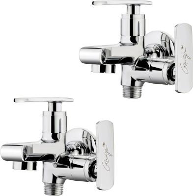 Ganga 305 Liva 2 Way Bib Cock With Wall Flange (Set of 2 Pcs) Faucet