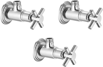 APREE Silver Brass Angle Valve : Series- Axis (Pack of 3) Faucet