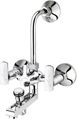 Ganga 314 Liva Wall Mixer 3 In 1 System With Provision For Both Telephone Shower & Overhead Shower Faucet