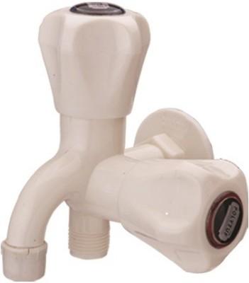 Polytuf 1064 2 Way Bib Cock With Flange & Foam Flow (R.H.) Faucet
