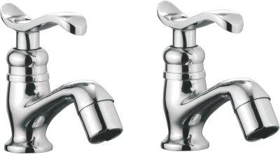 APREE Silver Brass Pillar Cock : Series- Devos (Pack of 2) Faucet