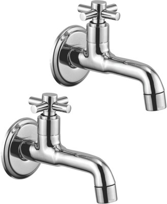Kamal Long Body Bib Cock - Cross (Set Of 2) (COR-2114-S2) Faucet(Wall Mount Installation Type)