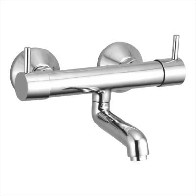 APREE Silver Brass Wall Mixer Non Telephonic : Series- Eva Eva Faucet