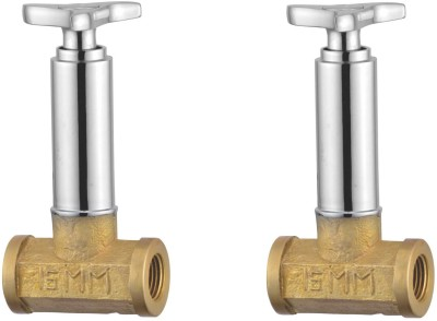 APREE Silver Brass Concealed Stop Cock 15mm : Series- Star (Pack of 2) Faucet