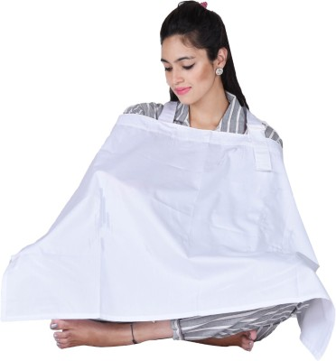 Lula Mom Solid Feeding Cloak(White)