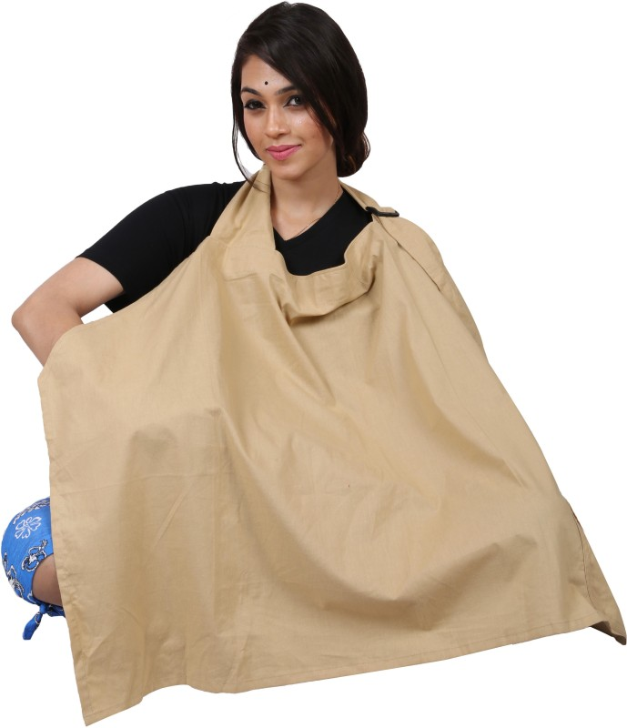 Lula Mom Brownish-Yellow Feeding Cloak(Multicolor)