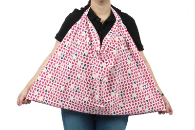 Blooming Buds Cotton Nursing Cover - White and Red Triangles Feeding Cloak