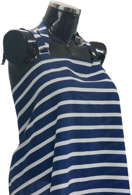 Wobbly Walk Nursing Cover Feeding Cloak(Blue/White)