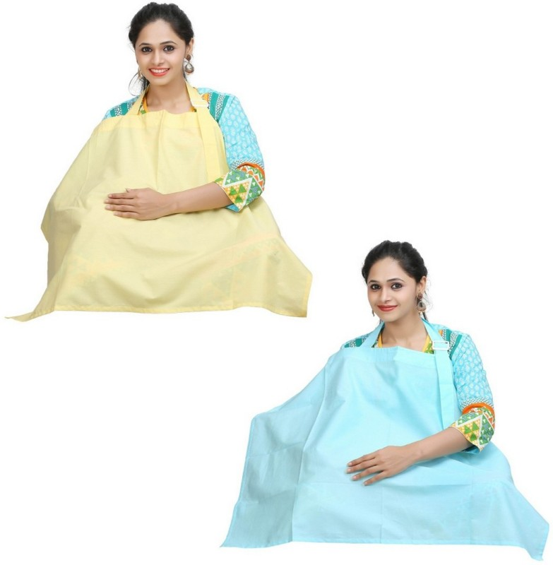 Lula Mom Feeding Cloak(Classic Blue, Pale Banana)