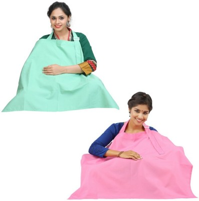 LULA MOM Feeding Cloak(Mint Green, Pink Arora)