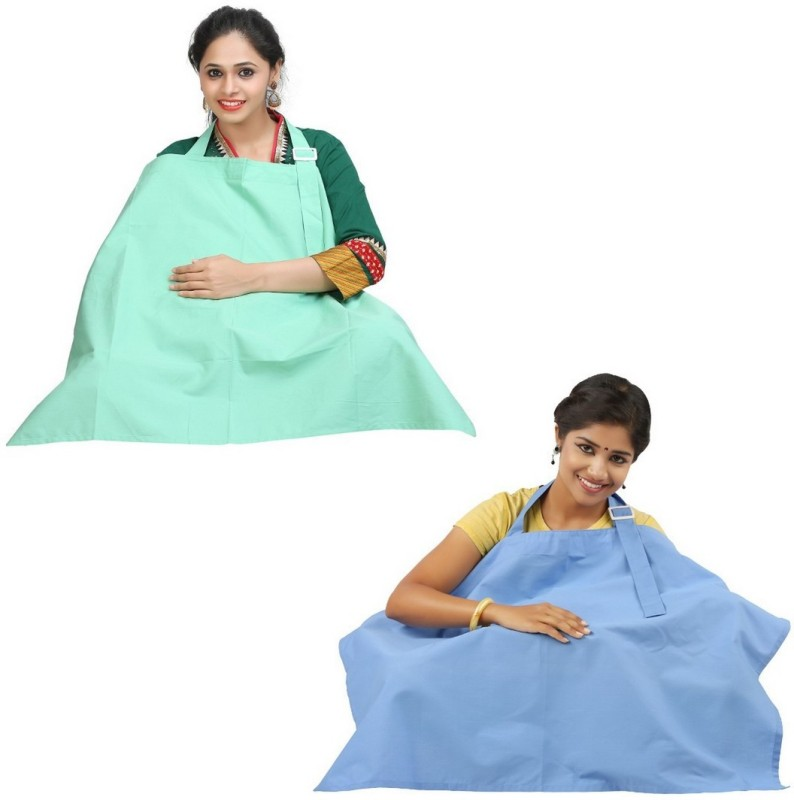 Lula Mom Feeding Cloak(Little Blue, Mint Green)