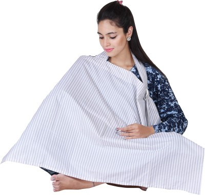 Lula Mom Printed Feeding Cloak(White)