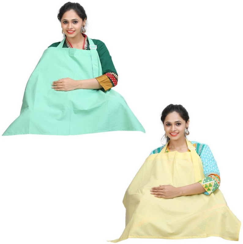 Lula Mom Feeding Cloak(Mint Green, Pale Banana)