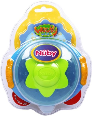 Nuby SUCTION BOWL ON HANDLE GRIPS  - Food Grade Plastic