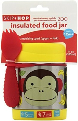Skip Hop Zoo Insulated Food Jar, Monkey  - Plastic