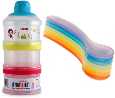 Farlin Baby Milk Powder container with Baby Rainbow spoon  - Polypropylene