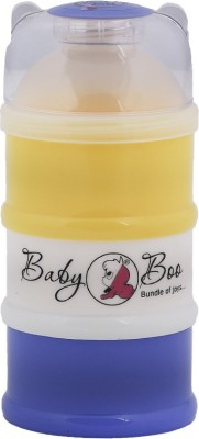 BABY BOO MILK POWDER 3 LAYER MULTICOLOR CONTAINER  - FOOD GRADE PLASTIC, BPA FREE(Yellow, White, Blue)