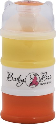 BABY BOO MILK POWDER 3 LAYER CONTAINER  - FOOD GRADE PLASTIC(Yellow, Orange, Cream)