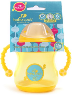 Baby Coo's 2 handle non spill cup  - Plastic(Yellow, Blue)