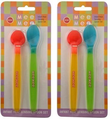 Mee Mee HEAT SENSOR SPOON Pack Of 2  - Silicon(Multicolor)