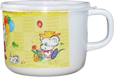Babysid Collections Kids Cup With Lid -Yellow Design-180 Ml (Thailand Imported)  - Food Grade Melamine