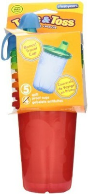 The First Years Take And Toss Spill Proof Cups  - Plastic(Red, Green)