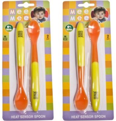 Mee Mee HEAT SENSOR SPOON Pack Of 2  - Plastic