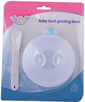 Mommas Baby Food grinding bowl - Bpa Free  - Plastic(White)