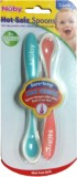 Nuby Hot Safe Spoons (Green - Pink)