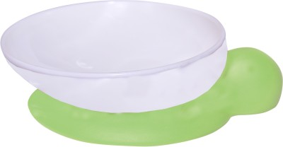 Blossoms Baby Feeding Bowl With Suction Base.BPA Free. Polypropylene Accessories.silicone base(green)  - Food Grade Plastic, Sillicone