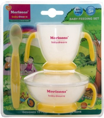 Morisons Baby Dreams Feeding Set - Yellow  - Plastic(Yellow)