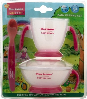 Morisons Baby Dreams Feeding Set - Pink  - Plastic(Pink)