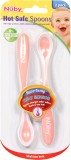 Nuby Hot Safe Spoons (Baby Pink)